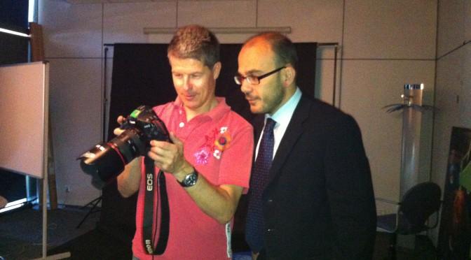 Gregory Heirman, fotografiando en Top Cable
