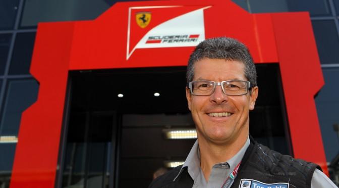 Gregory Heirman en el paddock del circuito de Monza