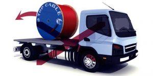 Transporte bobina en camion
