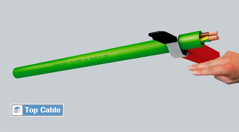 cable con hilo de desgarro ripcord
