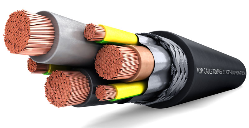 CABLE TOXFREE ZH R0Z1-K (AS) VFD EMC 0,6/1 kV de Top Cable