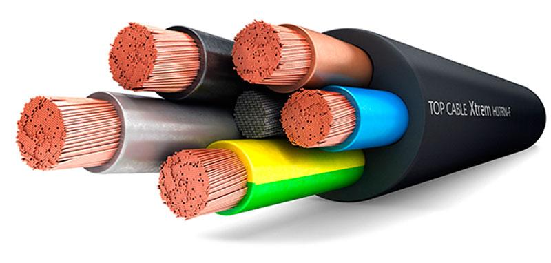 Cable flexible de goma 71