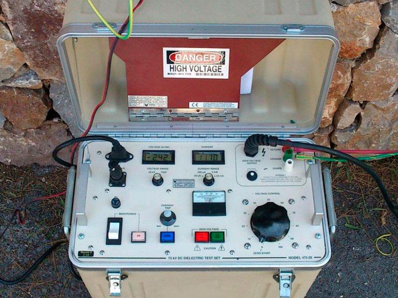 fuente de alimentación estabilizada para prueba de rigidez dieléctrica