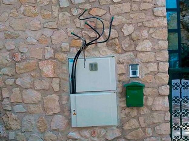 Cuadro eléctrico para cables de baja tensión