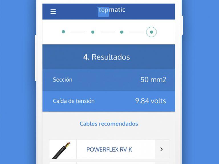 TOPMATIC la app mejorada para calcular la sección