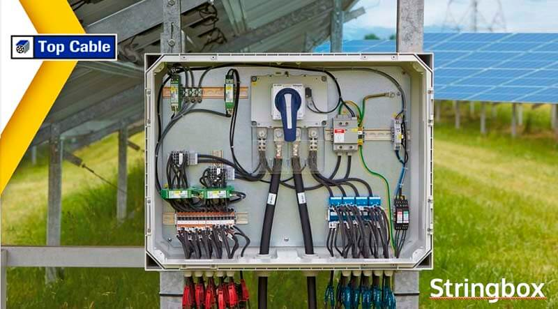 Solar cables from panel to stringbox