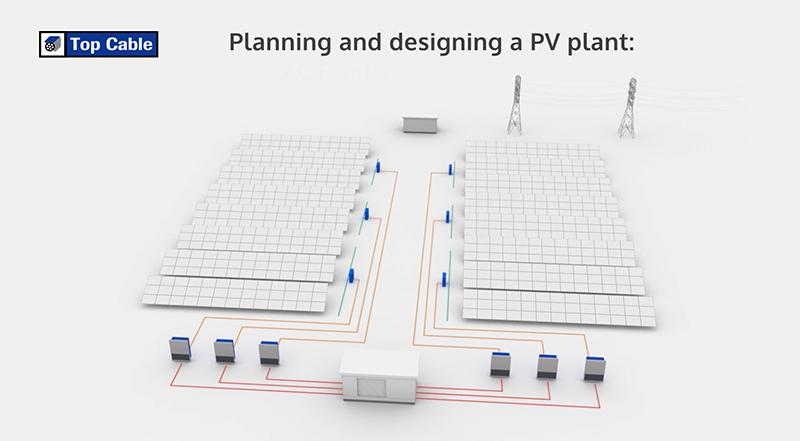 diseñando una planta solar| cables