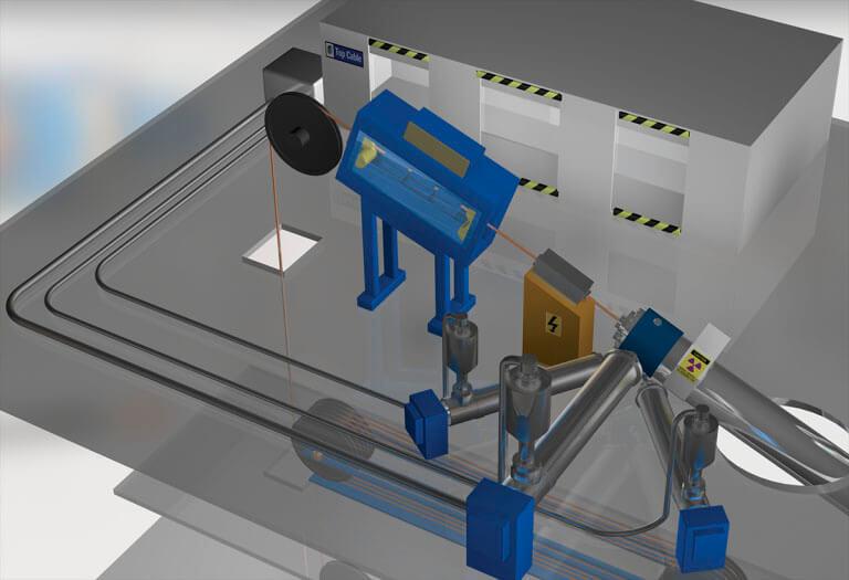 recubrimiento cable proceso