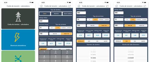 calculadora caída de tensión screenshot